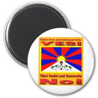 Tíbet libre y democrático imán redondo 5 cm