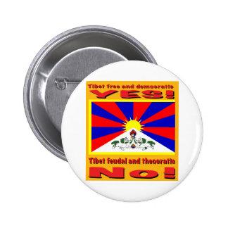 Tíbet libre y democrático pin redondo de 2 pulgadas
