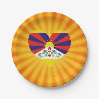Tíbet lindo superventas plato de papel de 7 pulgadas