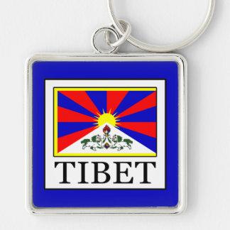Tíbet Llavero Cuadrado Plateado