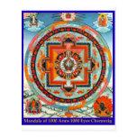 Tibet Mandala Chenrezig of 1000 Arms 1000 Eye Tarjeta Postal