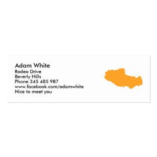 Tibet map business card