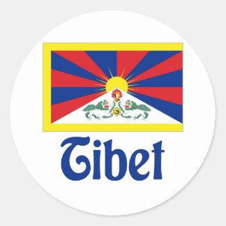 Tíbet Pegatina Redonda