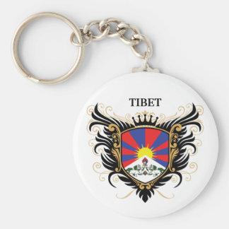 Tibet [personalize] basic round button keychain