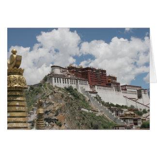 Tibet Photo Card: Potala Palace, Lhasa Tibet