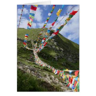 Tibet Photo / Prayer Flags Tibetan Card