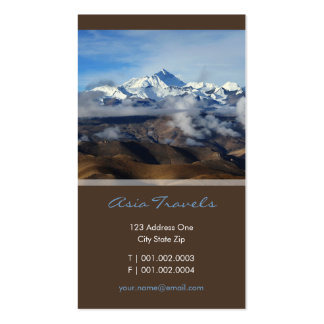 Tibet Qomolangma Mt Everest China Travel Photo Business Card Templates
