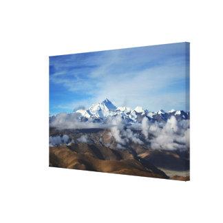 Tibet Qomolangma Mt Everest China Travel Photo Stretched Canvas Prints