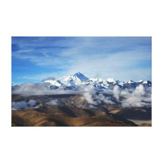 Tibet Qomolangma Mt Everest China Travel Photo Canvas Print
