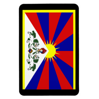 Tibet Rectangular Photo Magnet