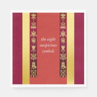 Tibet Tibetan auspicious symbols Paper Napkin
