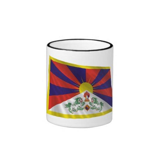 Tibet Waving Flag Ringer Coffee Mug