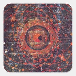 Tibetan astronomical Thangka Square Sticker