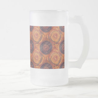 Tibetan Astronomy Frosted Glass Beer Mug