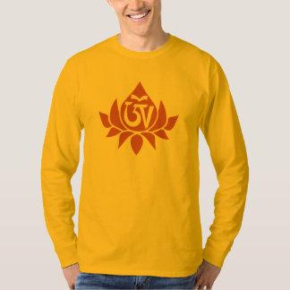 Tibetan Aum and Lotus Men's Long Sleeve T-Shirt