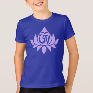 Tibetan Aum Symbol and Lotus Kid's T-Shirt