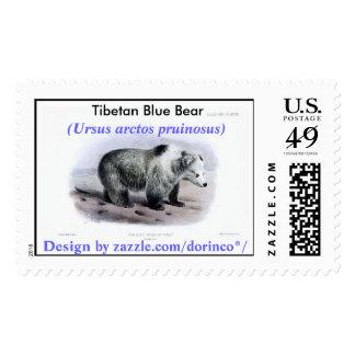 Tibetan Blue Bear (Ursus arctos pruinosus) Postage