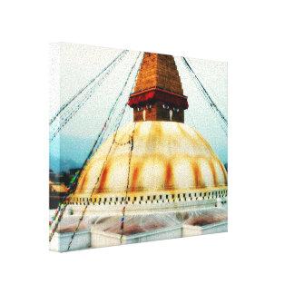 Tibetan Boudhanath Stupa Nepal Gallery Wrap Canvas