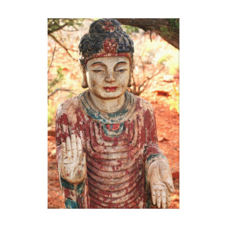 tibetan buddha wrapped canvas