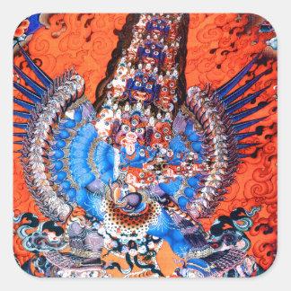 Tibetan Buddhist Art (Chemchok Heruka) Square Sticker