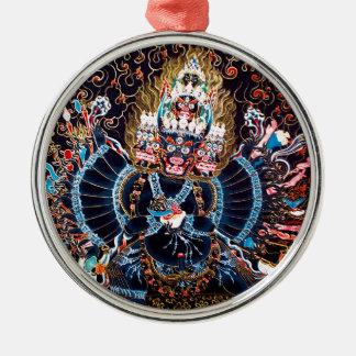 Tibetan Buddhist Art (Chemckok Heruka) Metal Ornament