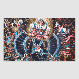 Tibetan Buddhist Art (Chemckok Heruka) Rectangular Sticker