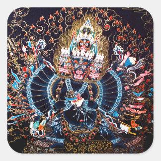 Tibetan Buddhist Art (Chemckok Heruka) Square Sticker