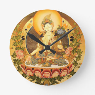 Tibetan Buddhist Art Round Wall Clock