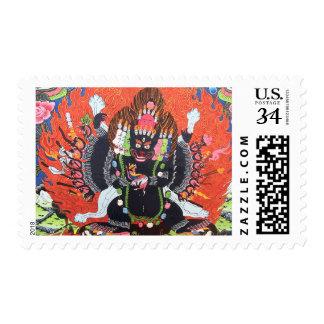 Tibetan Buddhist Art Postage Stamp