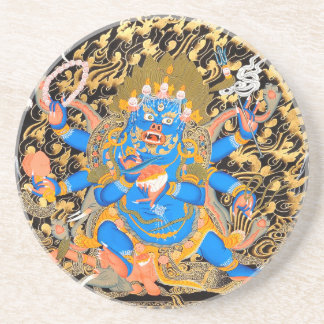 Tibetan Buddhist Art Print Sandstone Coaster