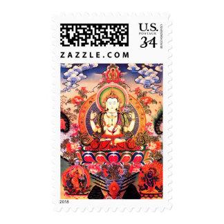 Tibetan Buddhist Art Stamp