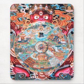 Tibetan Buddhist Art (Wheel of Life) Mouse Pad