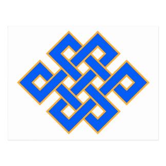 Tibetan Buddhist Endless Knot Auspicious Symbol Postcard