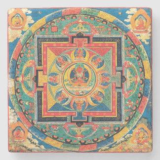 Tibetan Buddhist Mandala Coasters Stone Beverage Coaster