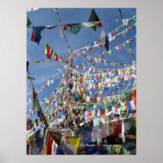 Tibetan Buddhist Prayer Flags Photo Poster