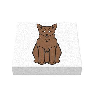 Tibetan Cat Cartoon Gallery Wrap Canvas