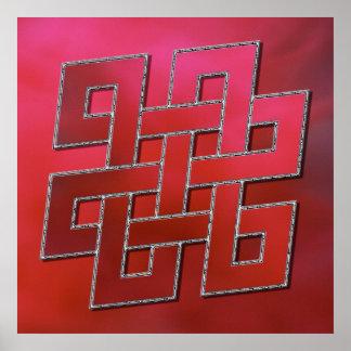 Tibetan continuous knot poster