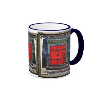 Tibetan Door Himalayas Ringer Mug