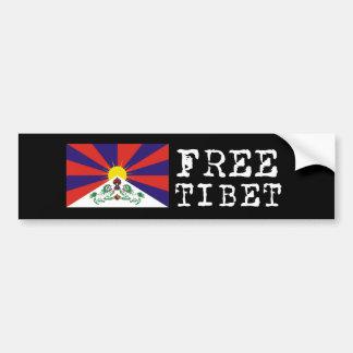 Tibetan Flag Bumpersticker Bumper Sticker