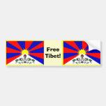 Tibetan Flag - Free Tibet! Bumper Stickers