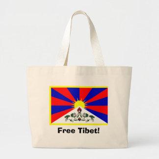 Tibetan Flag - Free Tibet! Canvas Bags