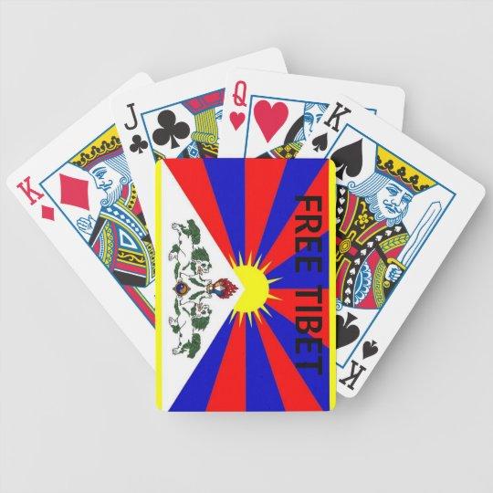 Tibetan Flag Free Tibet Playing Cards