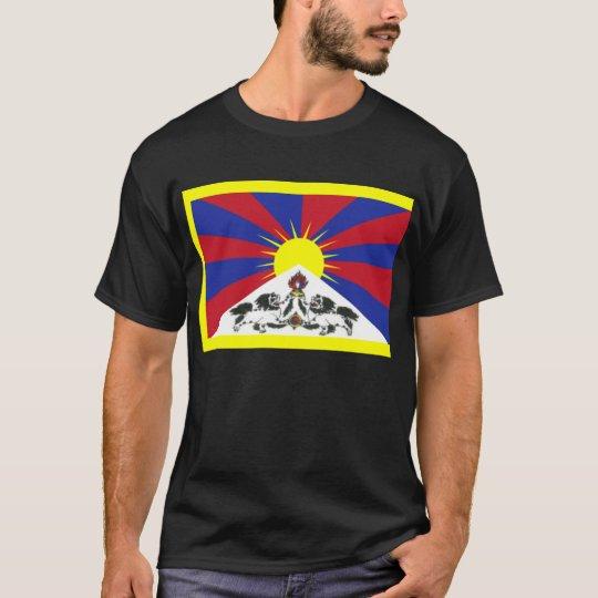 Tibetan flag + om mani T-Shirt