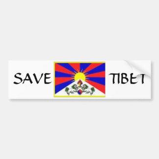 tibetan flag, SAVE, TIBET Bumper Sticker