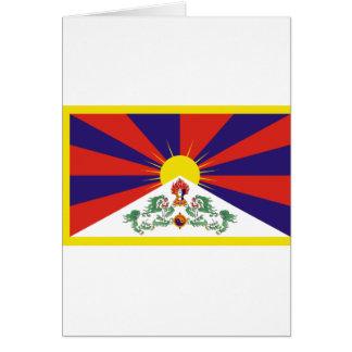 Tibetan Free Tibet Flag - Peu Rangzen བོད་རང་བཙན་ Card