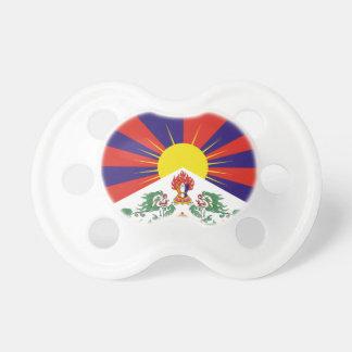Tibetan Free Tibet Flag - Peu Rangzen བོད་རང་བཙན་ Pacifier
