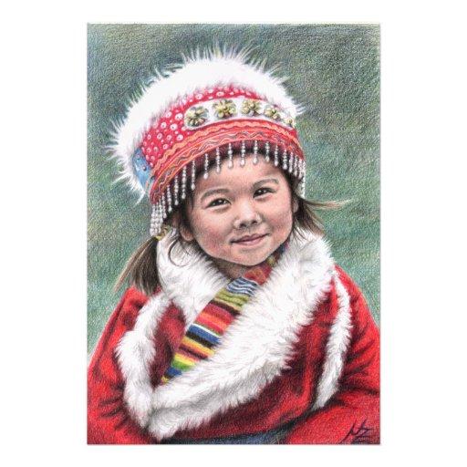 Tibetan Girl Impresion Fotografica