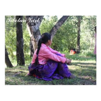 Tibetan Girl Postcard