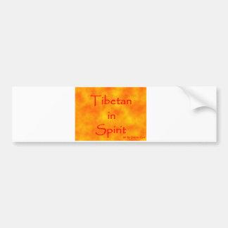 Tibetan in Spirit-bumper sticker Car Bumper Sticker