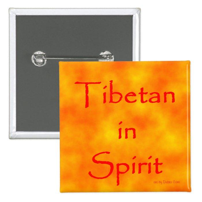 Tibetan in Spirit-button Button